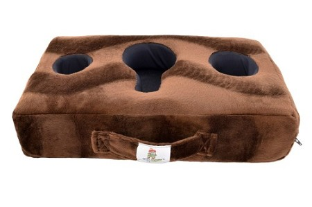 Cup Cozy Pillow Brown