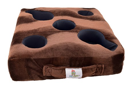 Cup Cozy Deluxe Pillow Extra Cover Only Brown  (Includes Cup Cozy Coasters)
